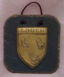 Louth County Crest slate wall plaque